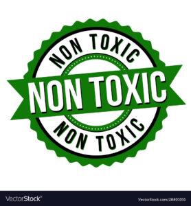 green non toxic label sticker