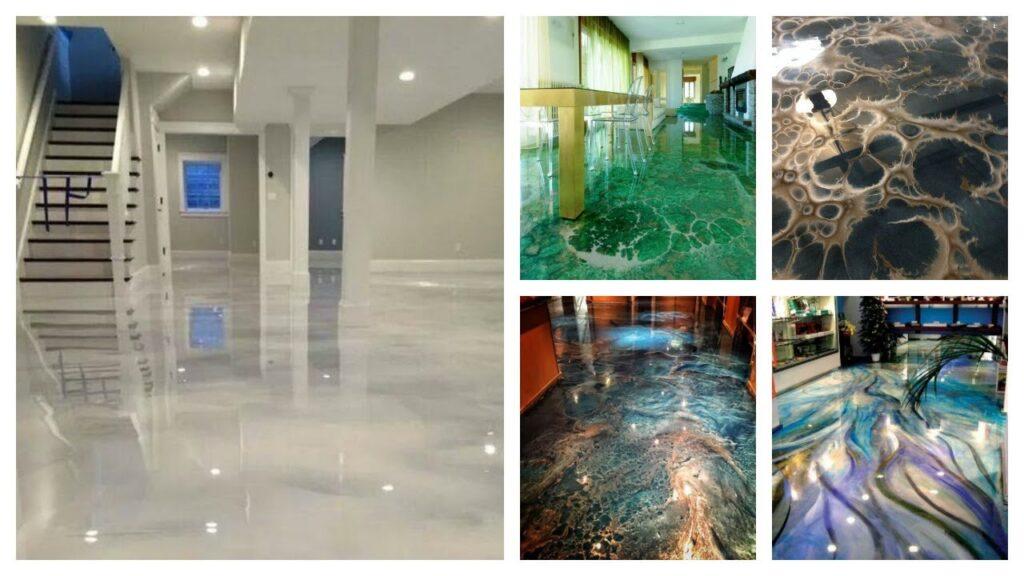 variety of epoxy flooring designs