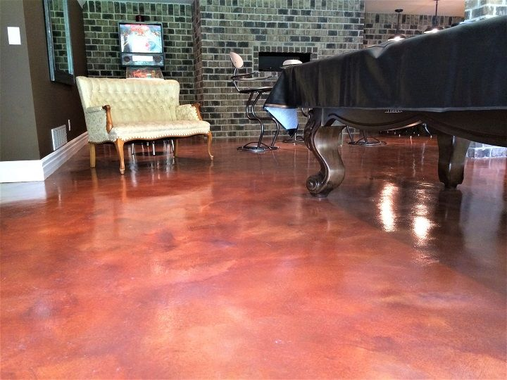 lounging area residential epoxy floor