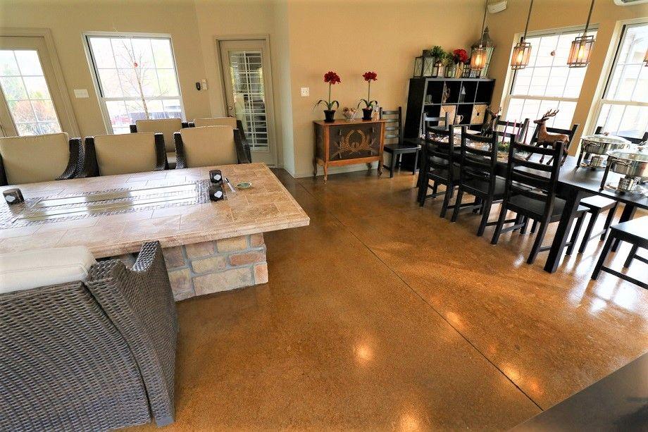 dining are epoxy floor